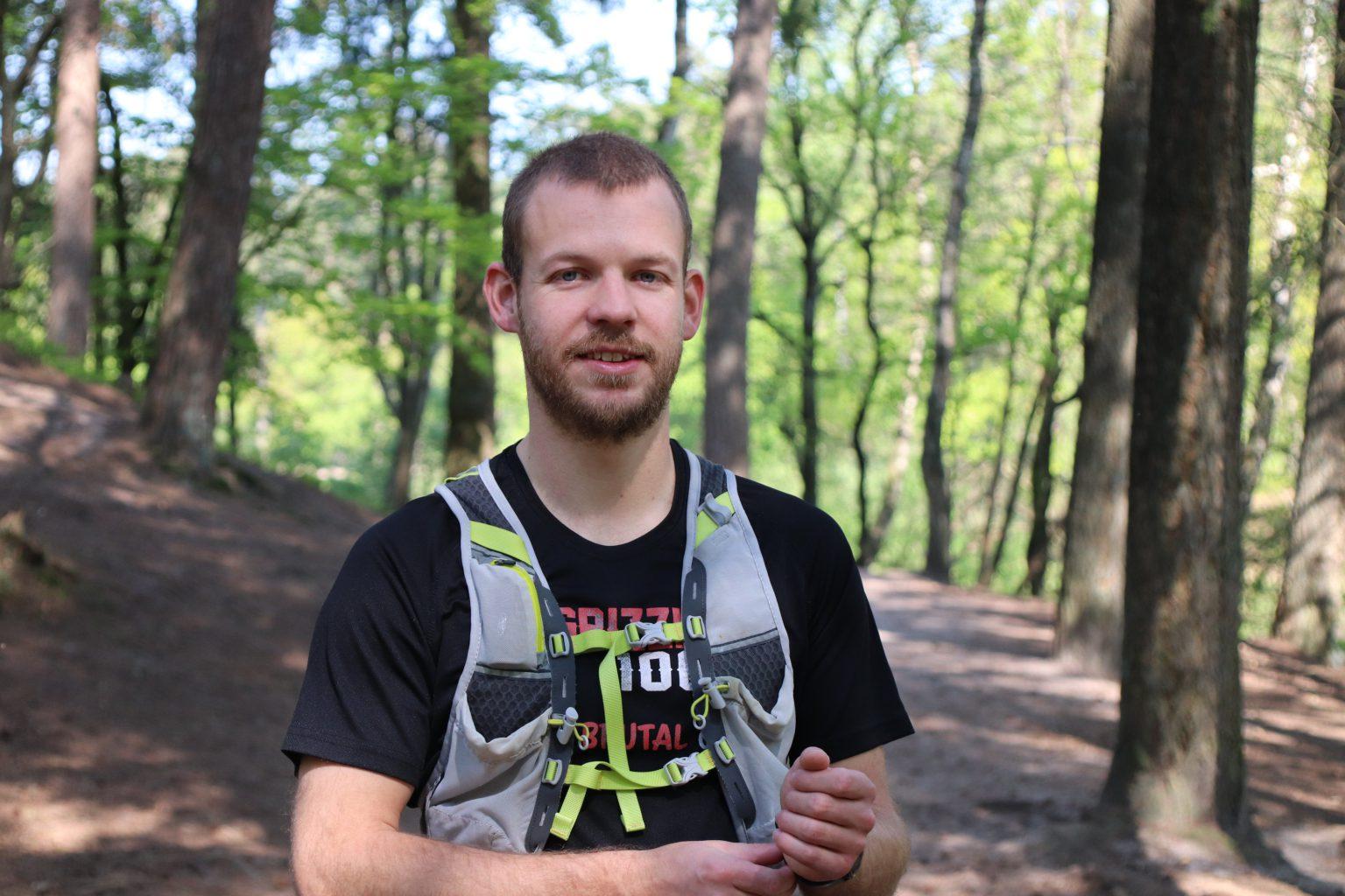 Danny trail run 100 km marathon hardlopen gluten coeliakie sponsor